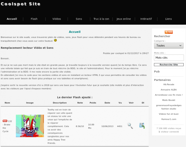 Version 11 du site