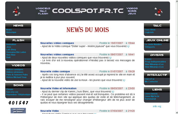 Version 9 du site