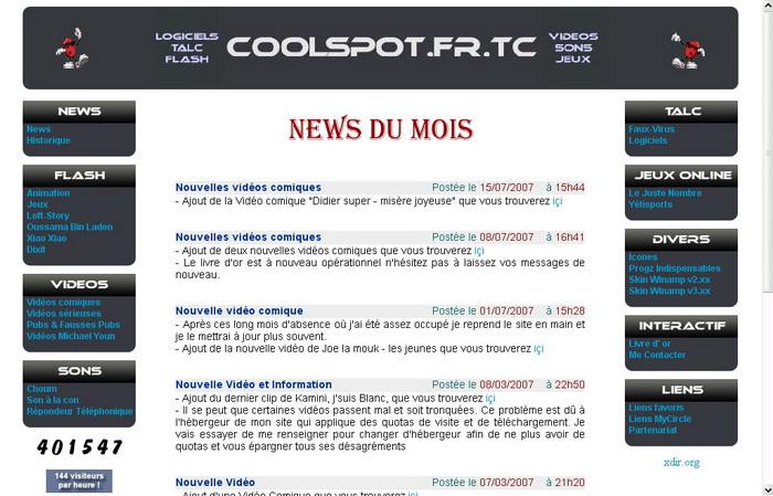 Version 9 du site