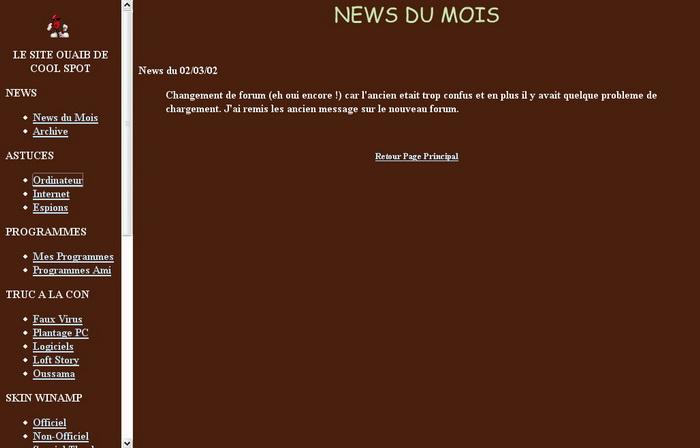 Version 2 du site